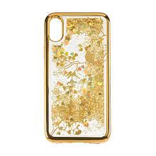 Чехол накладка силиконовый TPU Beckberg Aqua для iPhone 7 Bird Gold