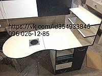 Маникюрный стол складной, с встроенной мощной вытяжкой и бактерицидной лампой +ящик карго