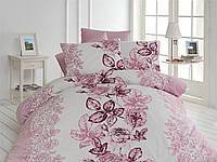 Качественный евро комплект постельного белья ТМ Nazenin Home, ранфорс LAMER-PUDRA-2
