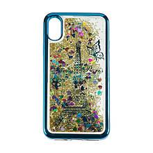 Чехол накладка силиконовый TPU Beckberg Aqua для iPhone 7/8 4.7 Paris Blue