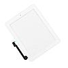 Тачскрин (сенсор) для iPad 3, iPad 4, белый, полный комплект, копия высокого качества