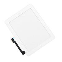 Тачскрін (сенсор) для iPad 3, iPad 4, білий, повний комплект, копія високої якості, фото 1