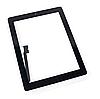 Тачскрін (сенсор) для iPad 3, iPad 4, чорний, повний комплект, копія високої якості