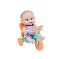 Пупс JC Toys Малыш с велосипедом 13 см JC16912-5