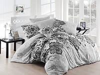 Качественный евро комплект постельного белья ТМ Nazenin Home, ранфорс Luxury-Gri