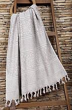 Полотенце махровое Buldans Orient серое 90*150
