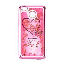 Чехол накладка силиконовый TPU Beckberg Aqua для Xiaomi Redmi 4a Hearts Pink
