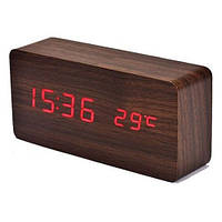 Часы дерево VST 862 подсветка Red