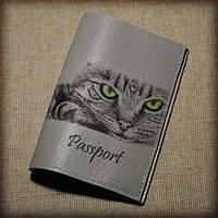 Обложка женская для паспорта Кошечка