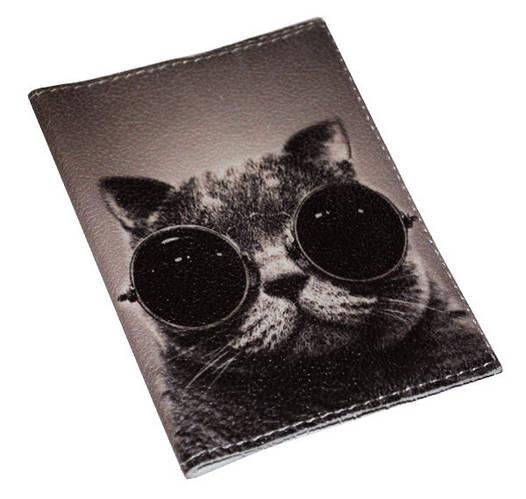 Обложка для паспорта  Крутой кот