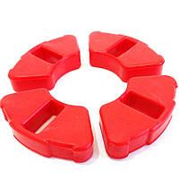 Демпферная резинка  колеса Delta, Alpha красная ( эластичный силикон )