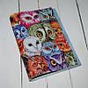 Кожаная женская обложка для паспорта Цветные совы