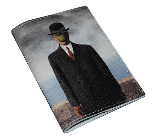 Кожаная обложка для паспорта Сын человеческий