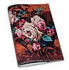 Кожаная женская обложка для паспорта с цветами Осенний букет