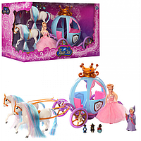Игрушечный Набор Карета 778397 Золушка с куклами и лошадьми, Волшебная Карета 778397 Золушка