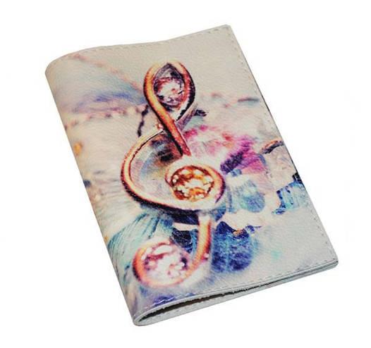 Обложка для паспорта Скрипичный ключ