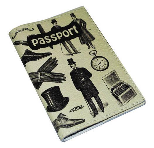 Обложка мужская для паспорта Джентельмен
