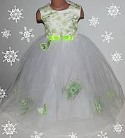 Нарядное платье на девочку 3-6 лет