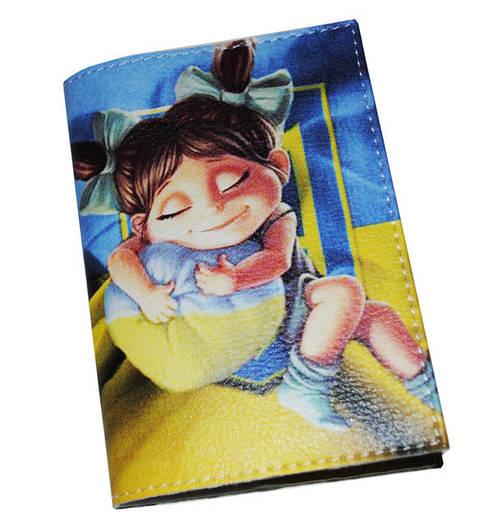 Кожаная обложка для паспорта Маленькая украинка