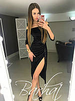 Платье с разрезом Бархат Муар