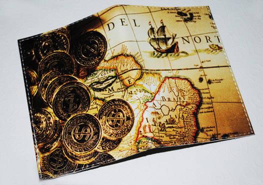 Обложка для паспорта/загранпаспорта Золотые монеты