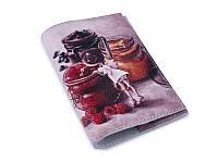 Кожаная женская обложка для паспорта Сладкоежка