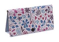 Женское портмоне Мятные цветы. Ручная работа