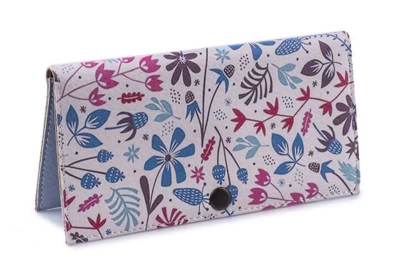 Женское портмоне Мятные цветы. Ручная работа - Интернет-магазин Garms в Львове