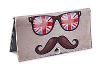 Женское портмоне Британские очки. Ручная работа