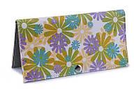 Женское портмоне Разноцветные цветы. Ручная работа