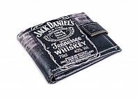 """Кожаное мужское портмоне """"Jack Daniels"""". Удобное и компактное"""