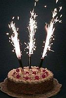 Фейерверк для тортов  из 6шт 15см