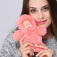 Меховой брелок на сумку в виде Куколки большой, фото 1