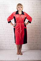 Халат жіночий велюровий великого розміру, фото 1