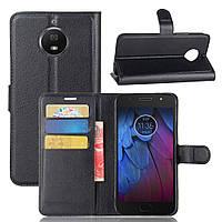 Чехол Motorola Moto G5S Plus / XT1805 / XT1802 / XT1803 / XT1804 / XT1806 книжка PU-Кожа черный