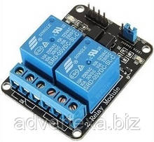 Модуль реле 2 канала 5V для Arduino PIC AVR
