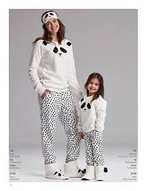 Пижама ДЕТСКАЯ тёплая Панда, Catherines 955, домашний костюм, одежда