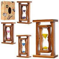 Деревянная игрушка Песочные часы MD 1113 (60шт) 16,5см, микс цветов, в кор-ке, 11-17-5,5см