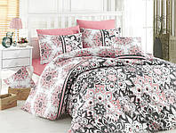 Качественный евро комплект постельного белья ТМ Nazenin Home, ранфорс STELLA-PUDRA-1
