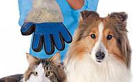 Перчатка для вычесывания шерсти с животных pet brush glove