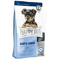 Корм для щенков малых пород Baby & Junior с 4 нед до 9-12 мес 4 кг супер-премиум(03413)Happy Dog (Хэппи Дог)