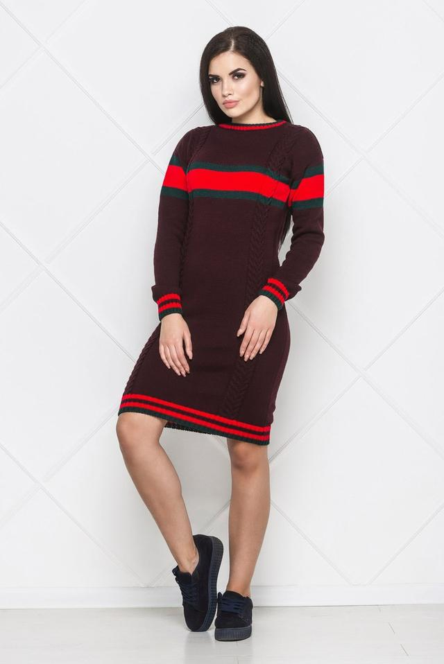 1753e08207e Женское вязаное платье