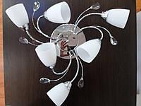 Люстра на 6 шесть плафона хромированая 1184