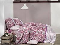 Качественный евро комплект постельного белья ТМ Nazenin Home, ранфорс VIOLET-PEMBE
