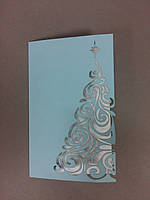 Новогодняя открытка резная
