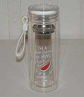 Стеклянная чашка-бутылка для чая