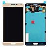 Оригинальный дисплей (модуль) + тачскрин (сенсор) Samsung Galaxy A7 A700F A700H A7000 (золотой, Super AMOLED)