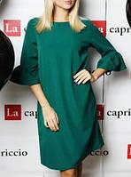 Стильное женское платье ( цвет темно-зеленый) / Женское платье до колен