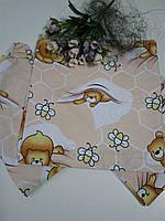 Детское постельное белье в садик 3 в 1, (резинка)