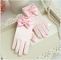 Перчатки нарядные детские цветные